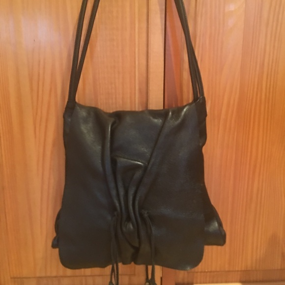 0765960392c HOBO Bags   International Black Leather With Tassels   Poshmark